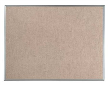 "Aarco Products DV48144 Burlap-Weave Vinyl Bulletin Board with Aluminum Frame, 48""H x 144"" W"