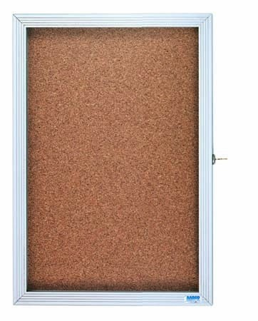 "Aarco Products EBC1218 1-Door Enclosed Bulletin Board Cabinet, 18""W x 12""H"