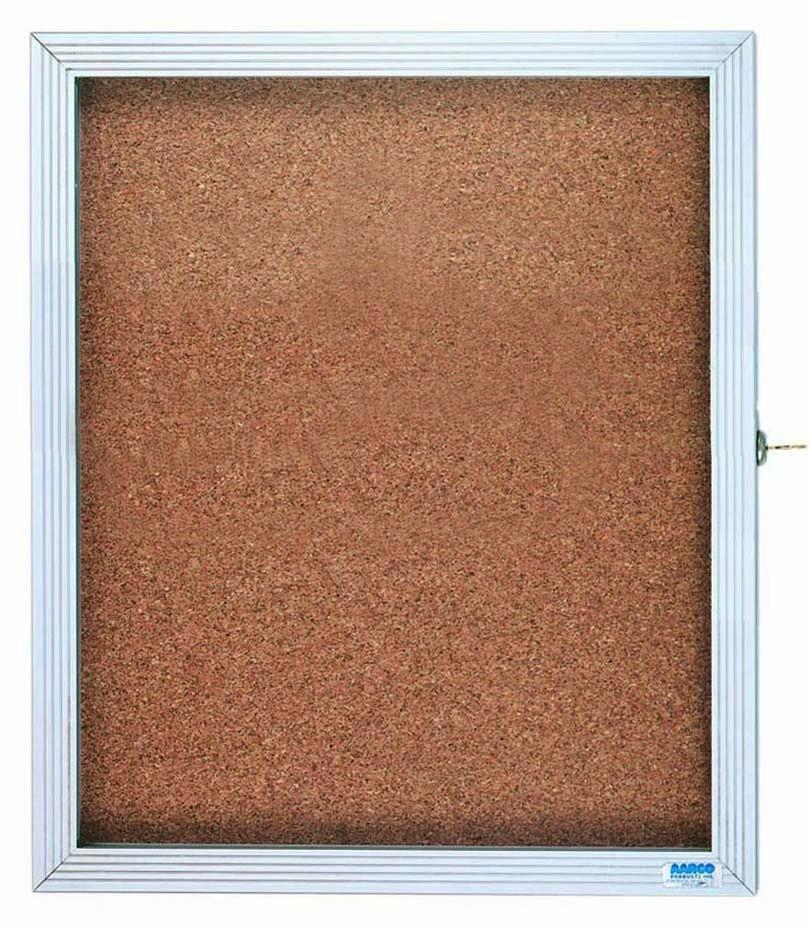 "Aarco Products EBC3630 1-Door Enclosed Bulletin Board Cabinet, 36""H x 30""W"