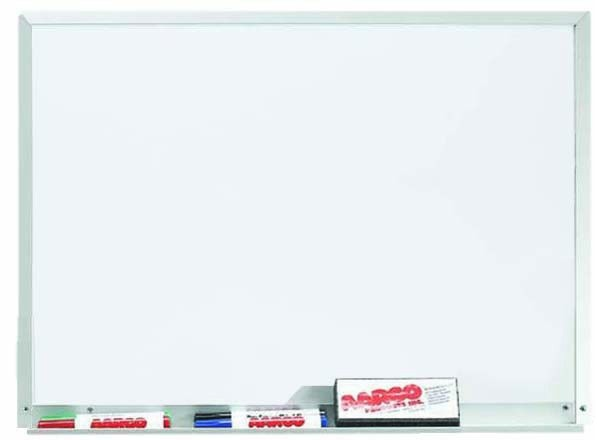 "Aarco Products WDS1824 Aluminum Frame Magnetic Porcelain Markerboard, 18""H x 24""W"