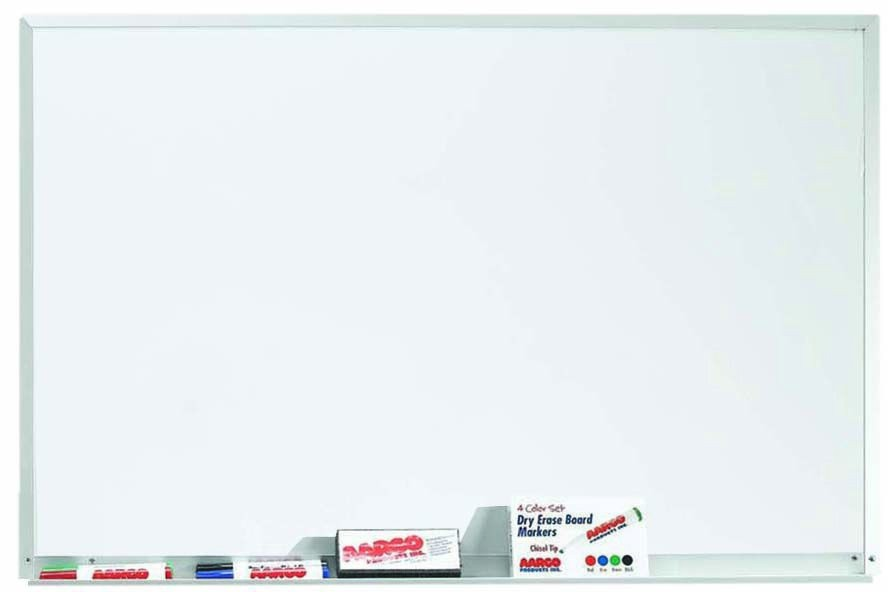 "Aarco Products WDS2436 Aluminum Frame Magnetic Porcelain Marker board, 36""W x 24""H"