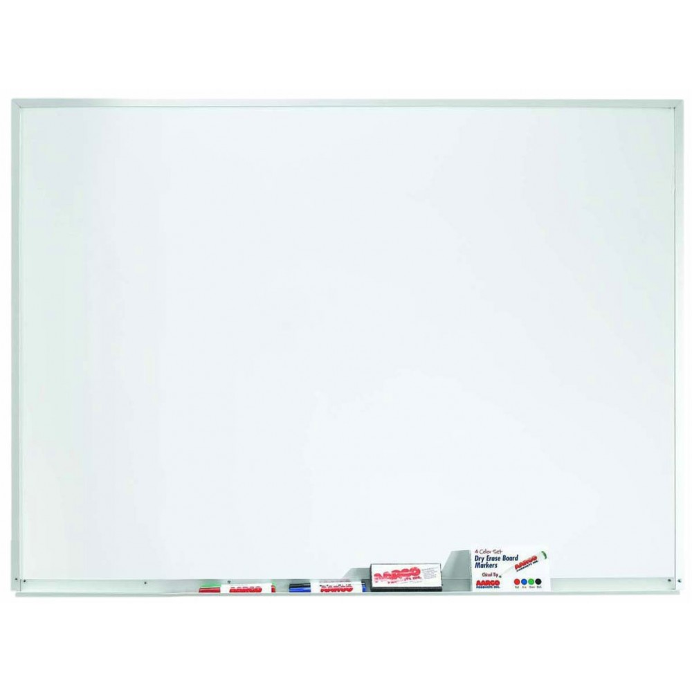 "Aarco Products WDS3648 Aluminum Frame Magnetic Porcelain Markerboard, 36""H x 48""W"