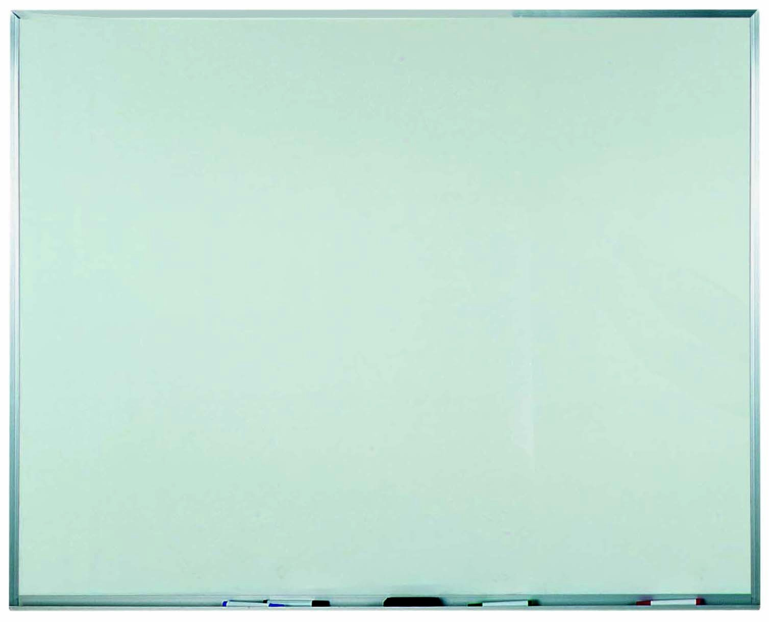 """Aarco Products WAC4860 Aluminum Frame Melamine Marker board, 60""""W x 48""""H"""
