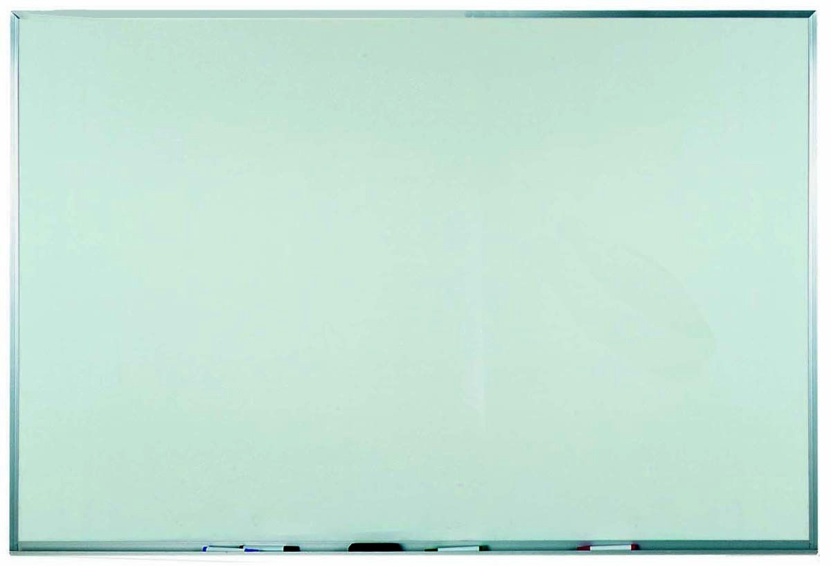"Aarco Products WAC4872 Aluminum Frame Melamine Markerboard, 48""H x 72""W"