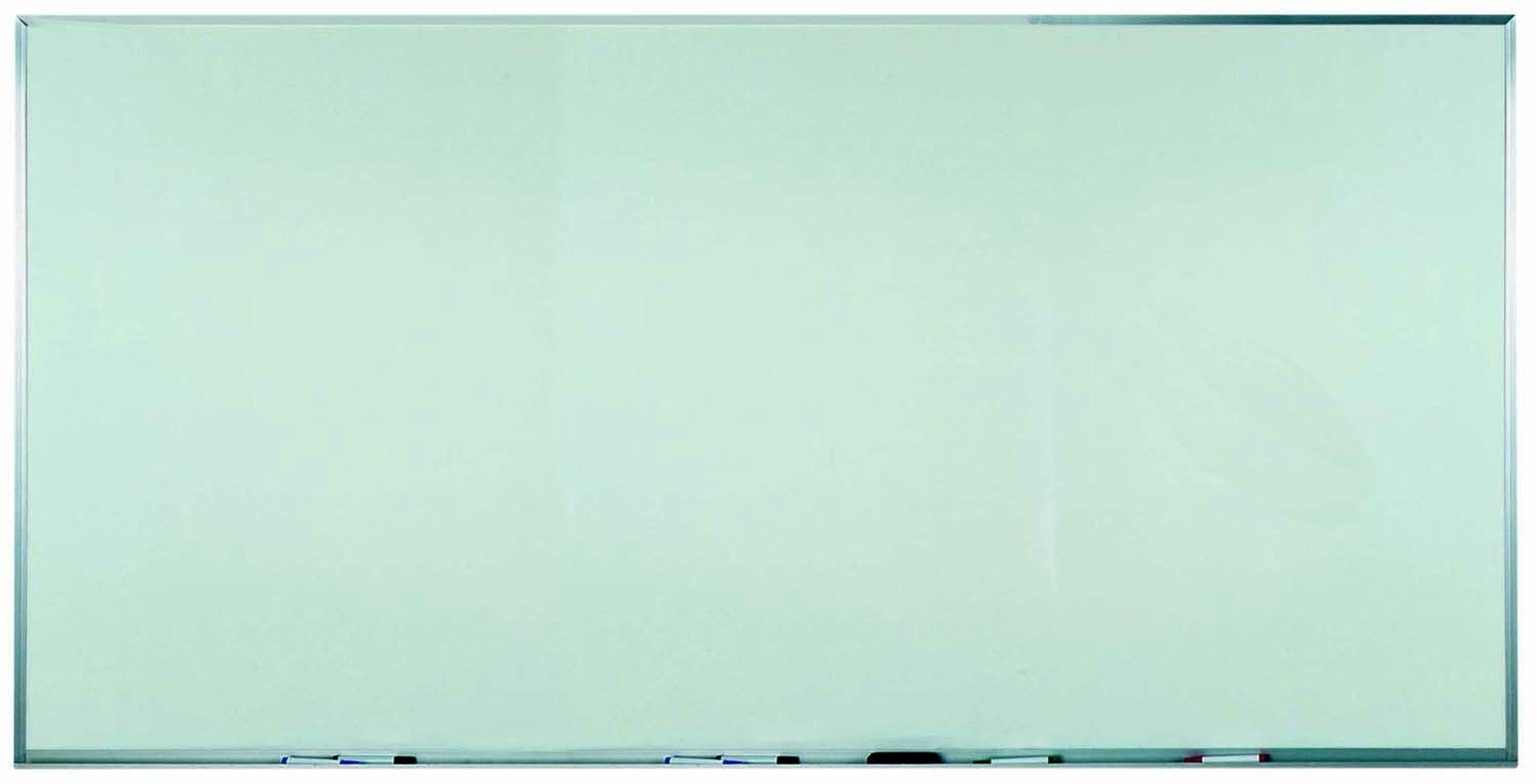 "Aarco Products WAC4896 Aluminum Frame Melamine Markerboard, 48""H x 96""W"