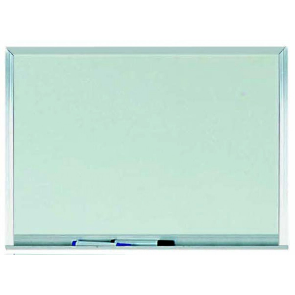 "Aarco Products WAC1824 Aluminum Frame Melamine Markerboard, 18""H x 24""W"