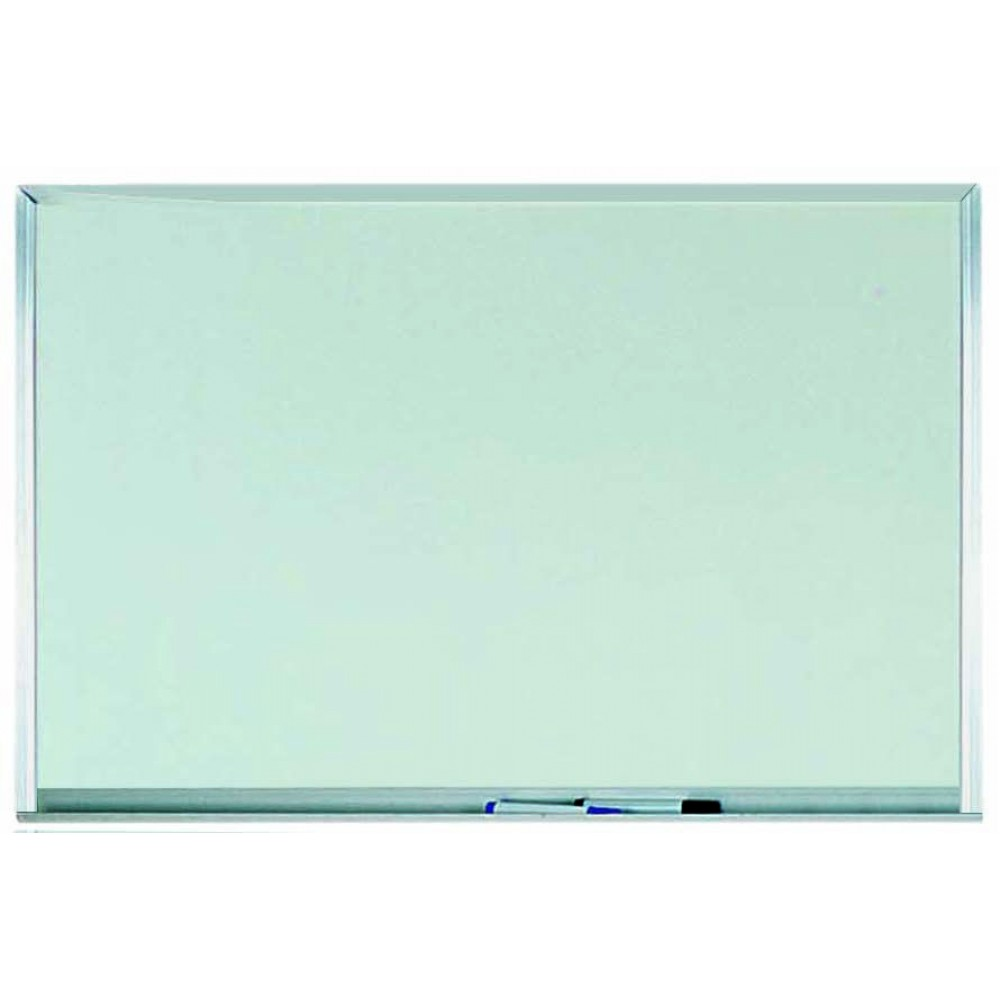 "Aarco Products WAC2436 Aluminum Frame Melamine Markerboard, 24""H x 36""W"