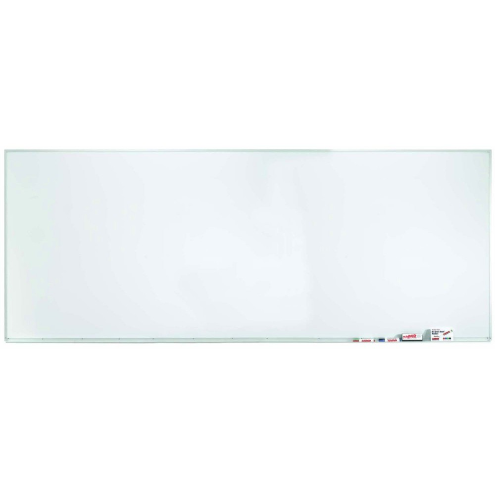 "Aarco Products WDS48120 Aluminum Frame Porcelain Magnetic Markerboard, 48""H x 120""W"