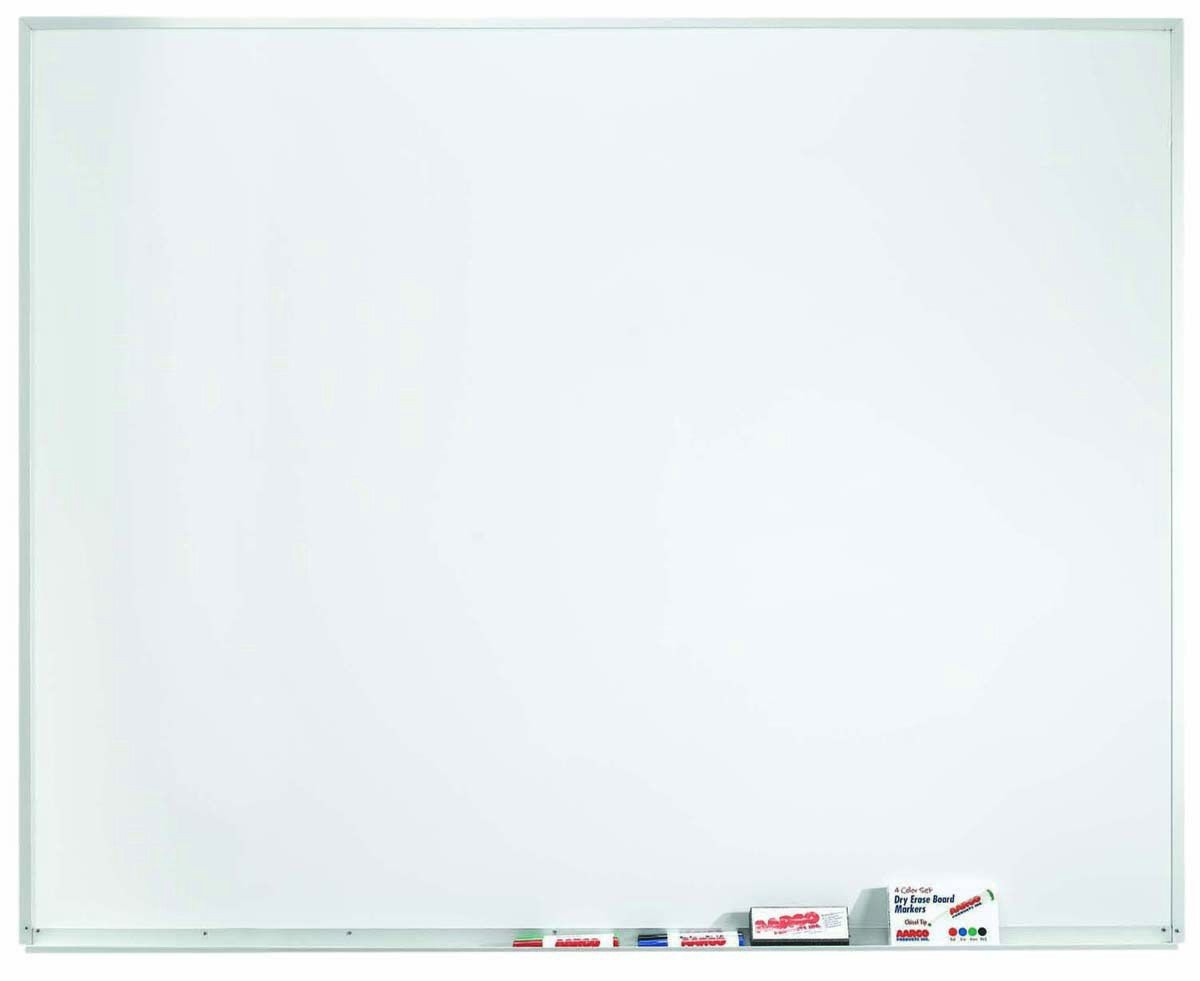 "Aarco Products WDS4860 Aluminum Frame Porcelain Markerboard, 48""H x 60""W"