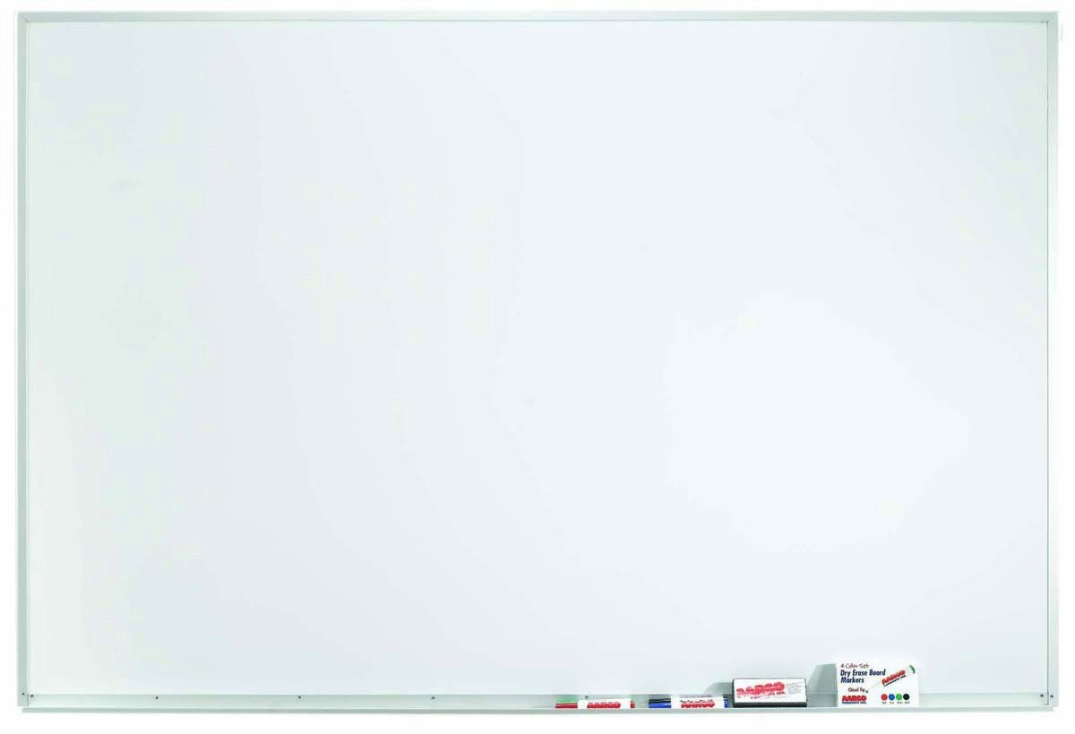 "Aarco Products WDS4872 Aluminum Frame Porcelain Markerboard, 48""H x 72""W"