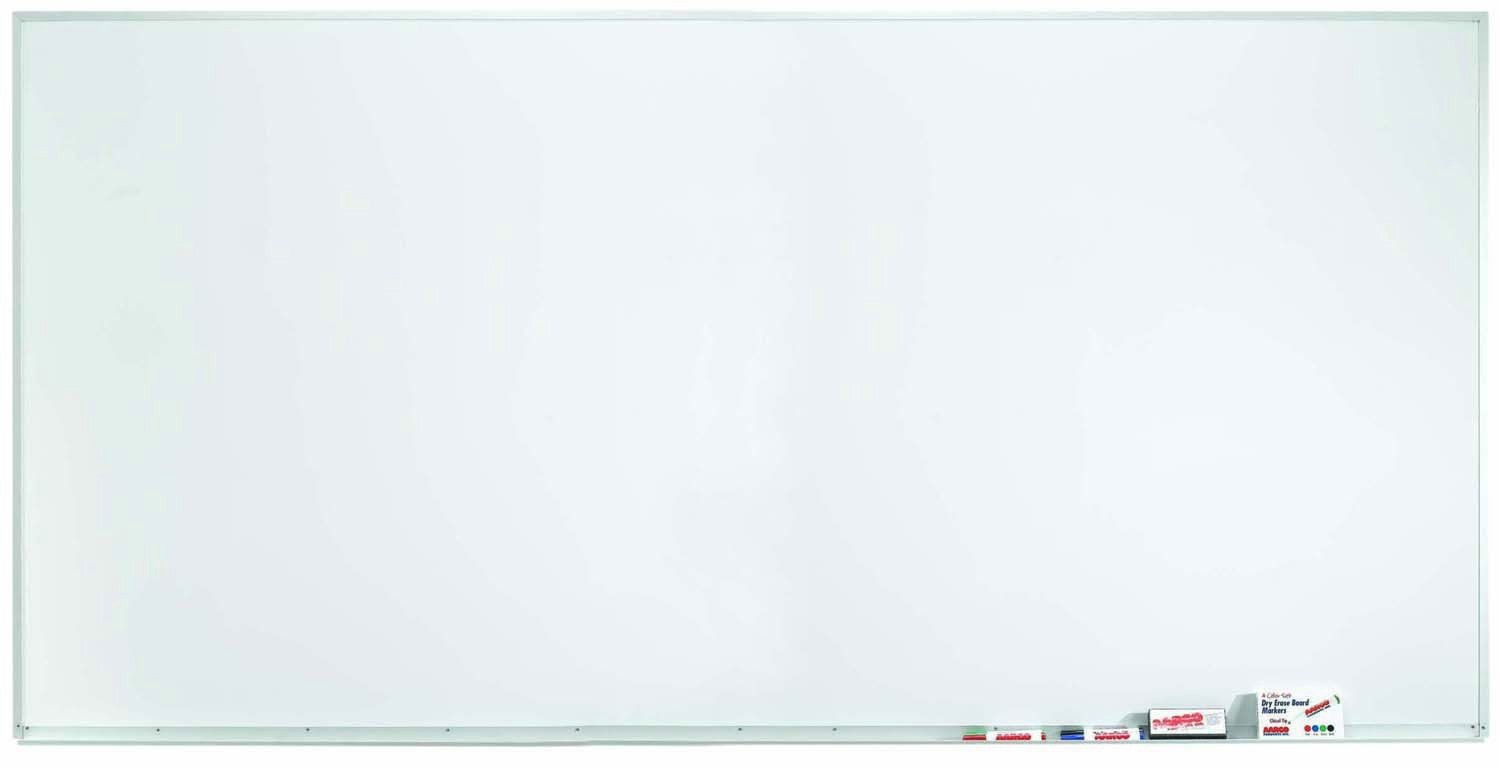 "Aarco Products WDS4896 Aluminum Frame Porcelain Markerboard, 48""H x 96""W"