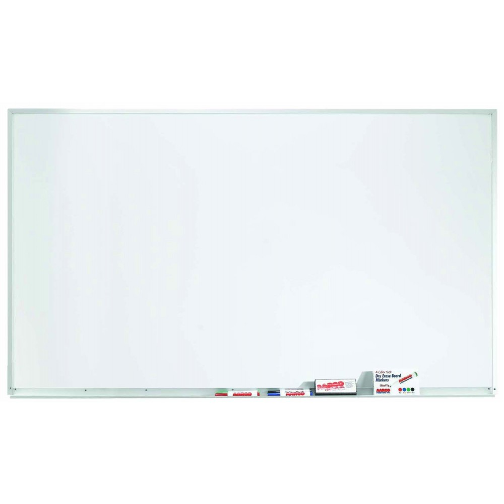 "Aarco Products WDS3660 Aluminum Frame Porcelain Markerboard, 36""H x 60""W"
