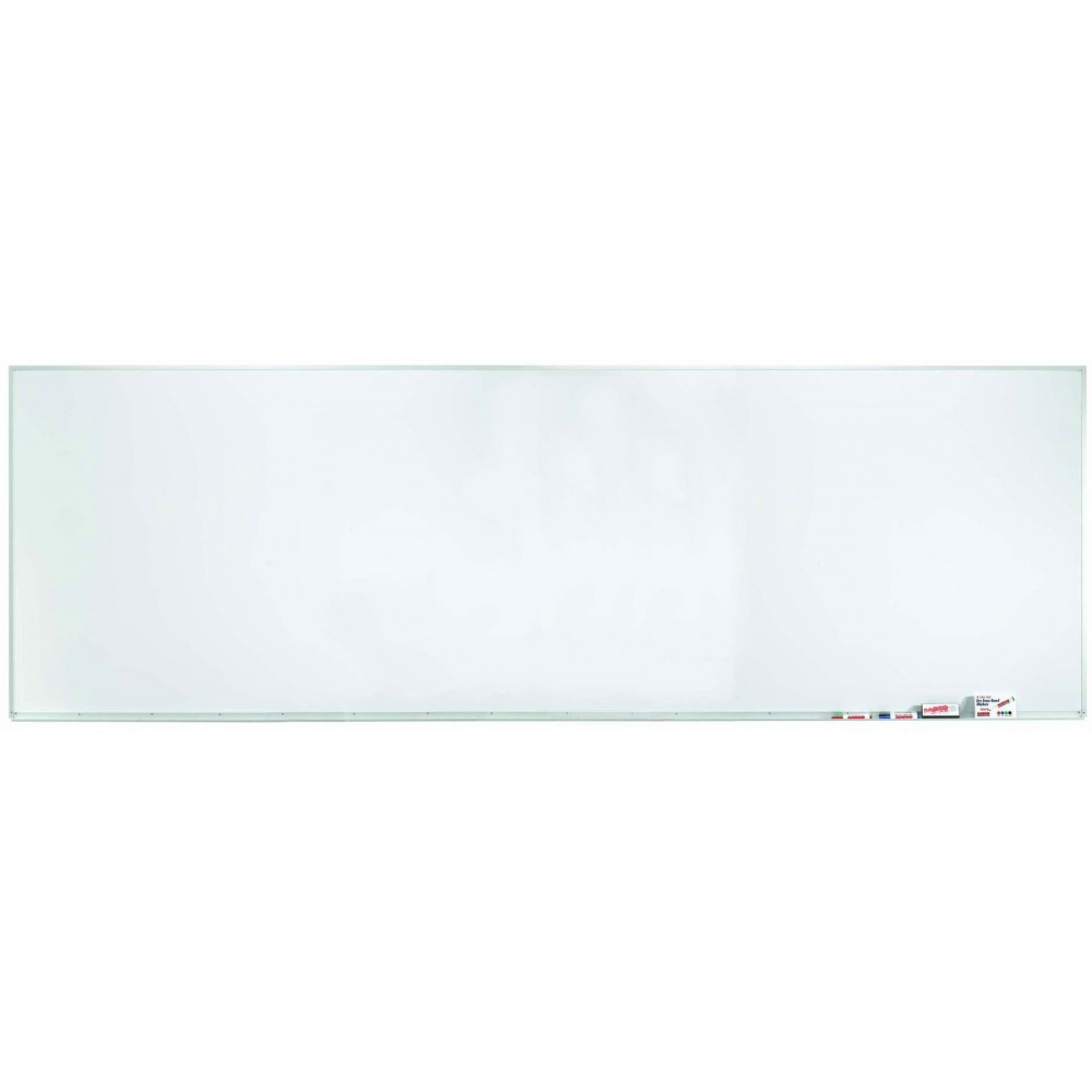 "Aarco Products WDS48144 Aluminum Frame Porcelain Markerboard, 48""H x 144""W"