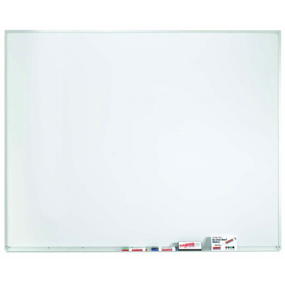 """Aarco Products WDS4860 Aluminum Frame Porcelain Markerboard, 48""""H x 60""""W"""