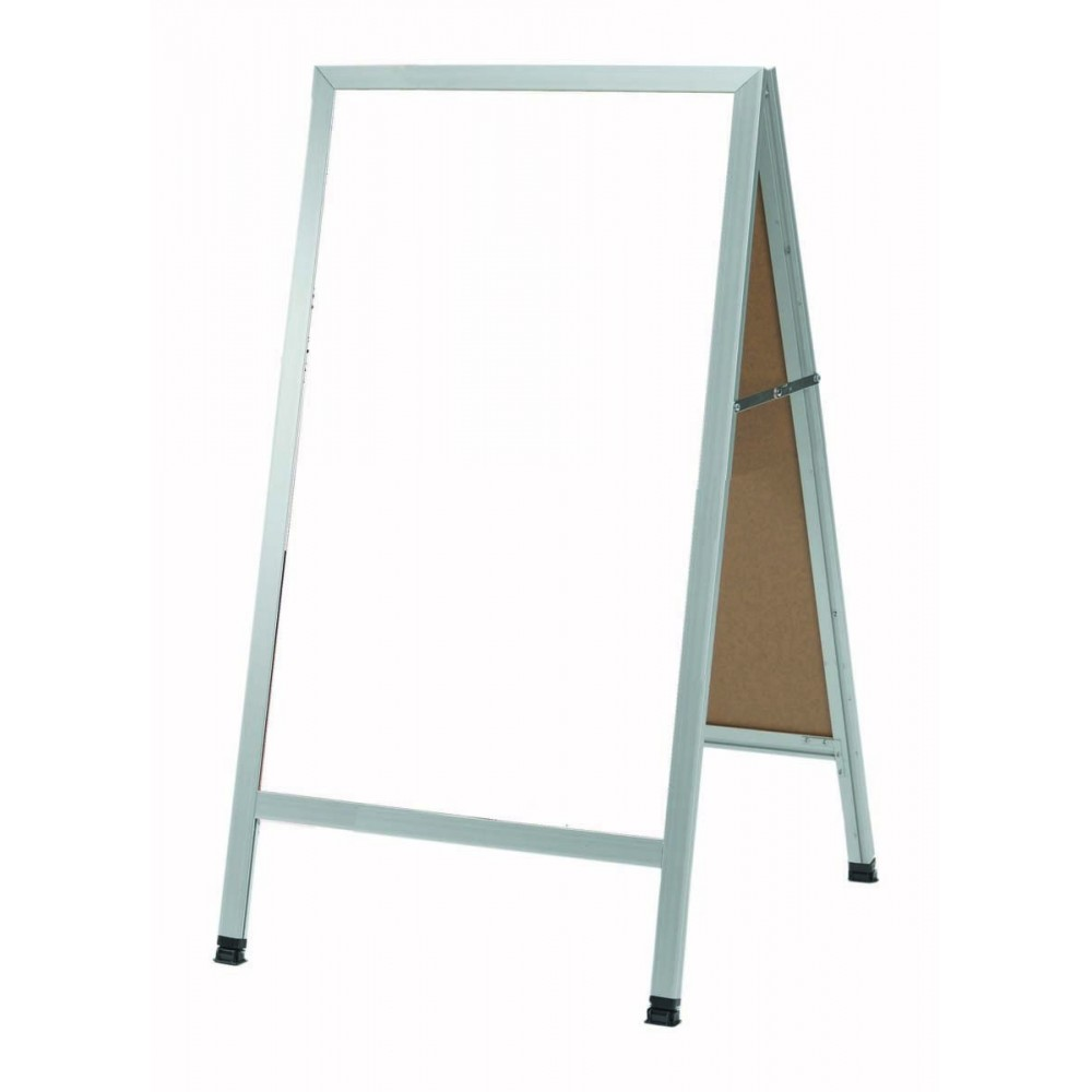 Aluminum Frame White Melamine Markerboard A-frame 24