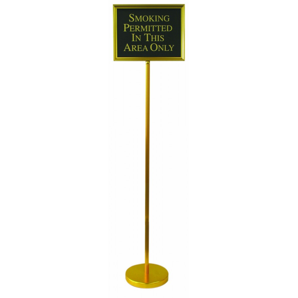"""Aarco Products TI-1B Director Aluminum Changeable Sign with Gold Frame, 59"""""""