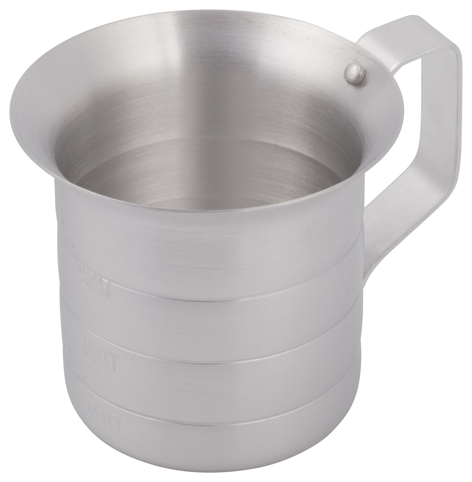 Winco am-05 Aluminum Measuring Cup, 1/2 Qt.