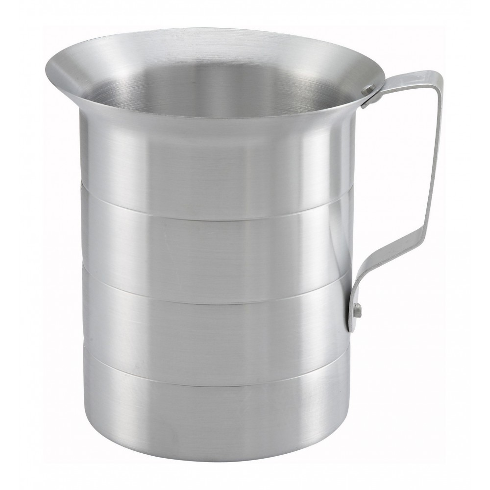 Winco AM-2 Aluminum Measuring Cup, 2 Qt.