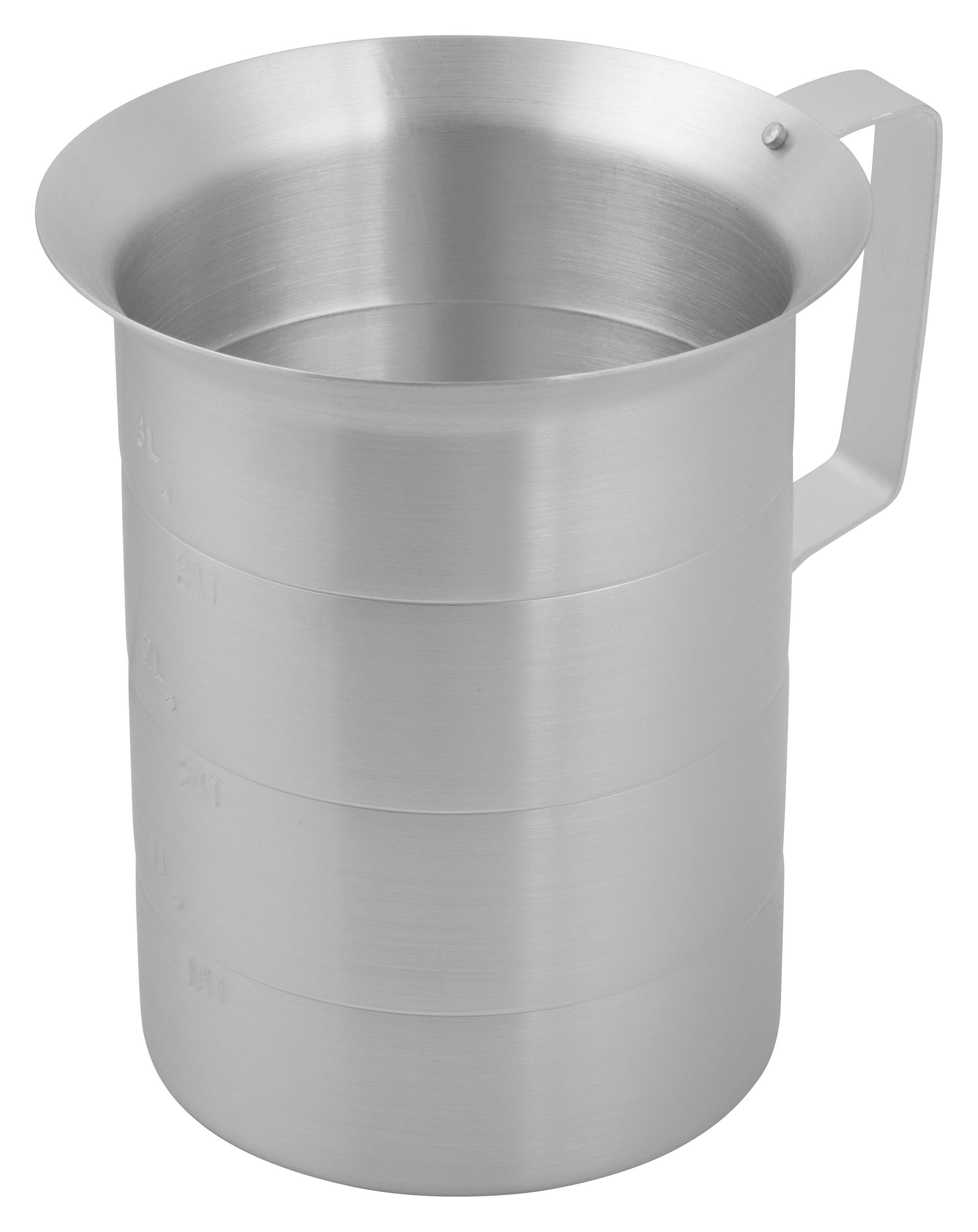 Winco AM-4 Aluminum Measuring Cup, 4 Qt.