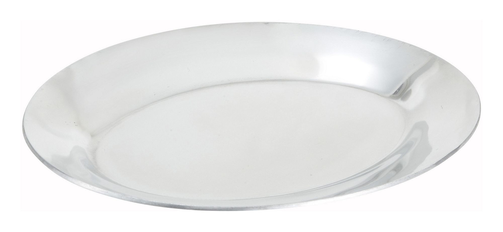 Winco APL-12 Aluminum Oval Sizzling Platter, 12""