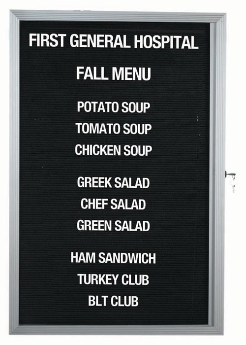 "Aarco Products EDC3624L Message Center Board with Aluminum Frame, 36""H x 24""W"