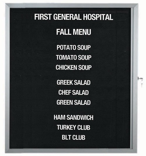 "Aarco Products EDC3630L Message Center Board with Aluminum Frame, 36""H x 30""W"