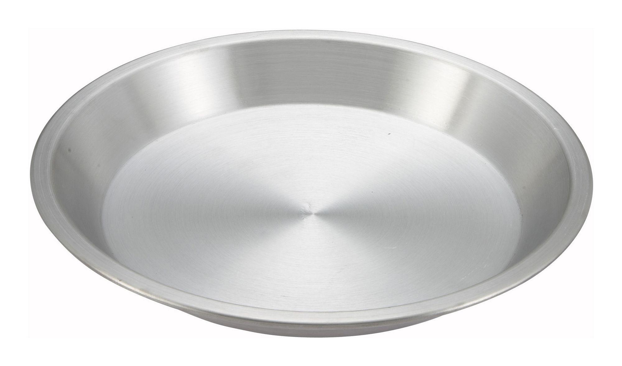 """Winco APPL-9 Aluminum Pie Plate 9"""" Dia."""