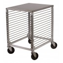Winco ALRK-15 15-Tier Aluminum Sheet Pan Rack with Wire Slides and Hard Top