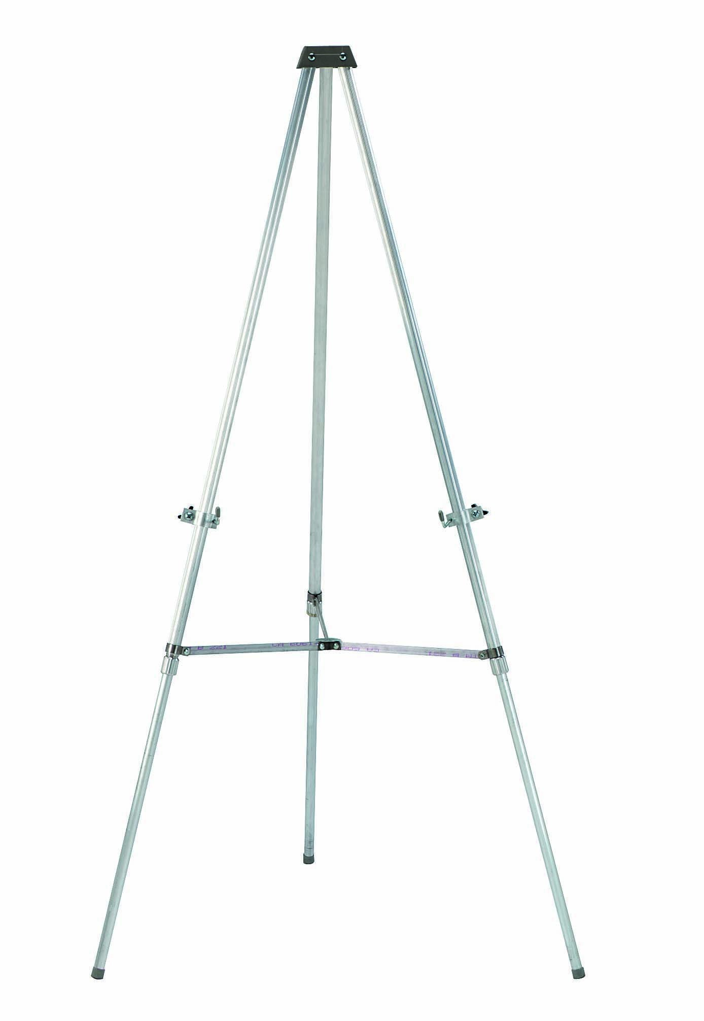 Aarco Products AE66 Aluminum Telescopic Display Easel for Flip Charts