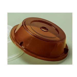"G.E.T. Enterprises CO-105-A Amber Reusable Plate Cover for 11-1/4"" to 12.13"" Round Plate"