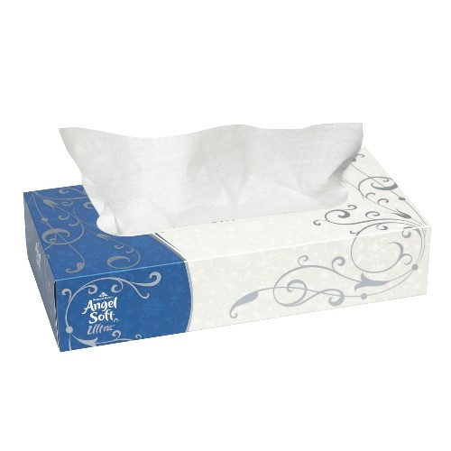 Angel Soft Cube-Box Facial Tissues 7 X 8, 2-Ply, White