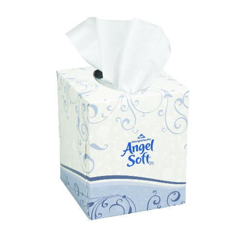 Angel Soft Cube Facial Tissue 2-Ply, White