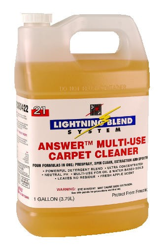 Answer Low-Foam Carpet Cleaner, Pleasant Scent, 1 Gallon
