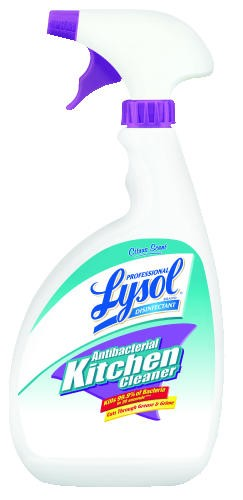Antibacterial Kitchen Cleaner, Citrus Scent, Liquid, 1 qt. Trigger Spray Bottle