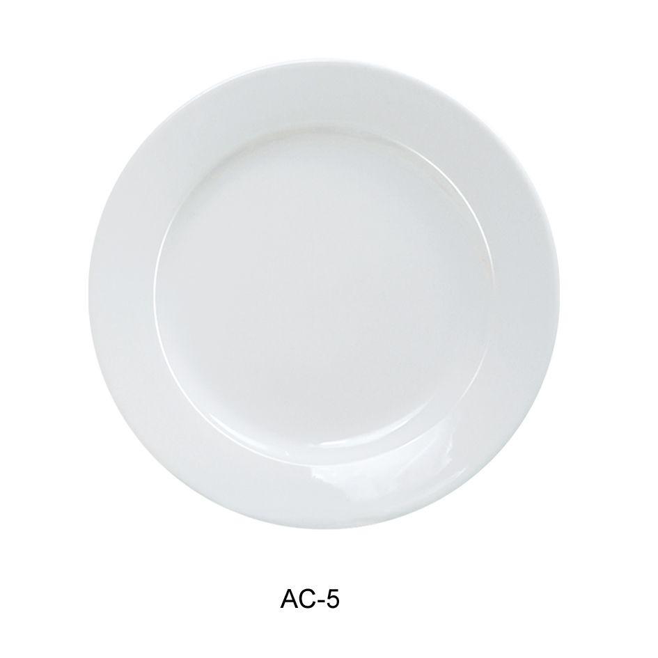 Appetizer Plate - Bright White, Wide Rim China (5.5