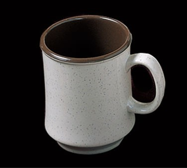 "Thunder Group AD908AA Arcadia Melamine Two-Tone 3"" Mug with Handle 9 oz."