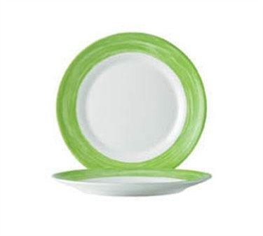 "Cardinal C3769 Arcoroc Brush Green Dinner Plate 10"" Dia."