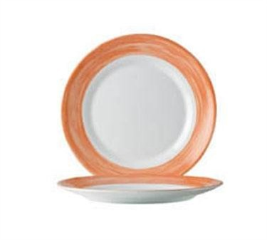 Arcoroc Brushed Orange Dinner Plate - 10