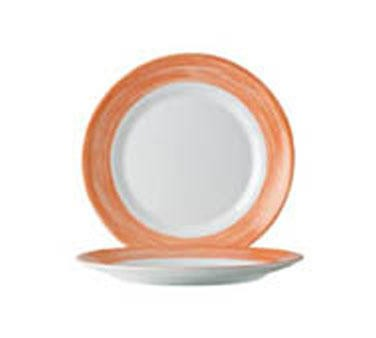 "Cardinal 49138 Arcoroc Brushed Orange Side Plate 7-1/2"" Dia."