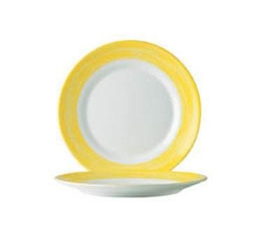 Arcoroc Brushed Yellow Dinner Plate - 10