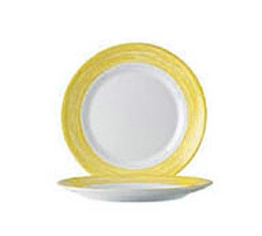"""Cardinal 49139 Arcoroc Brushed Yellow Side Plate 7-1/2"""" Dia."""