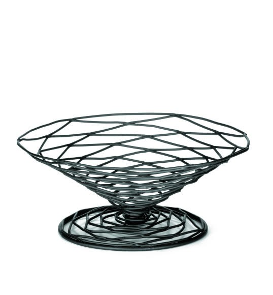 Artisan Black-Coated Metal Appetizer Cone Basket- 9