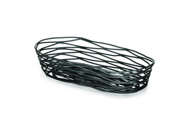 "TableCraft BK11709 Artisan Metal Black Oblong Basket 9"" x 4"" x 2"""