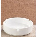CAC China AST-4 Accessories Ashtray European White 4.5""