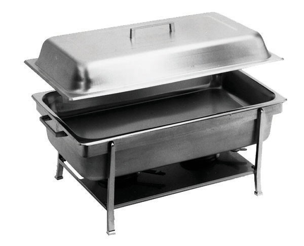 Assembled Full Size Stainless Steel Chafer With 2 Half-Size Inserts