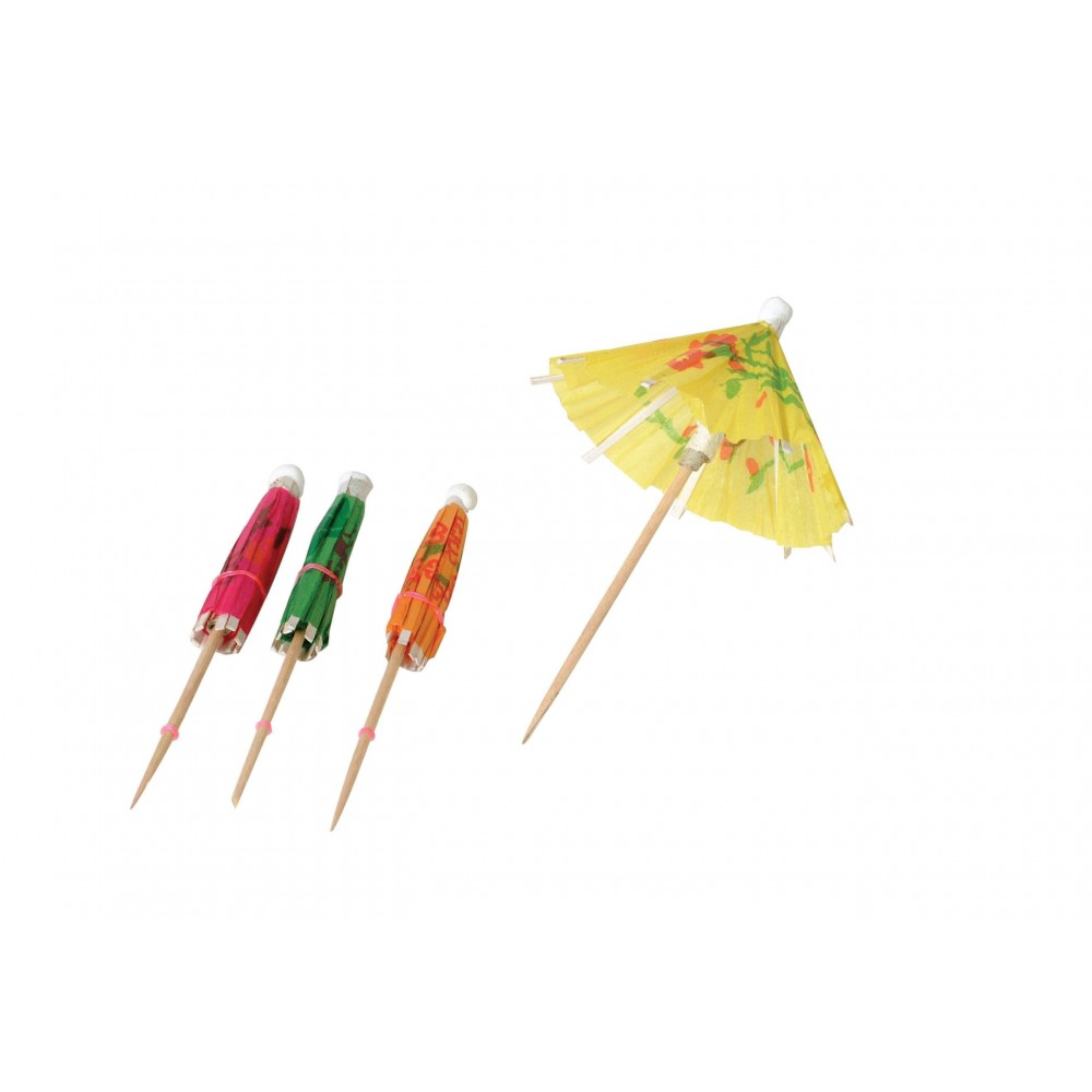Johnson-Rose 4601 Assorted Colors Cocktail Parasols 4""