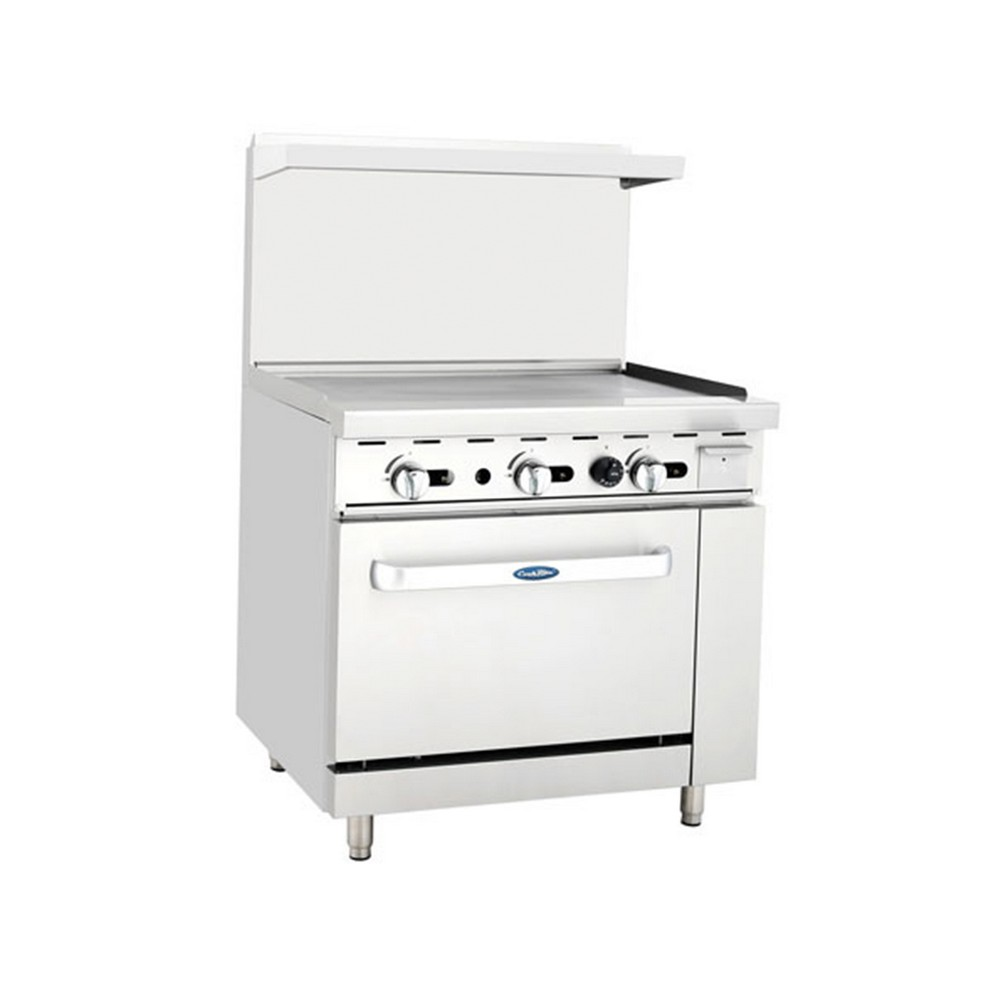 """Atosa ATO-36G 36"""" Gas Range with 36"""" Griddle and (1) 26-1/2"""" Oven"""