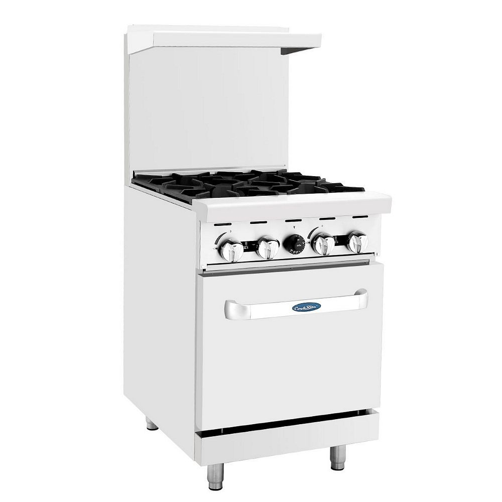 Atosa Ato 4b 24 Gas Range With 4 Open Burners And 1 20
