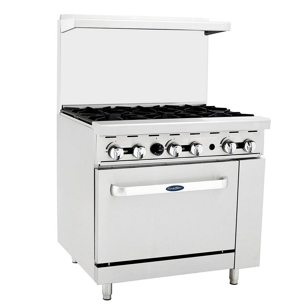 "Atosa ATO-6B 36"" Gas Range with (6) Open Burners and (1) 26-1/2"" Oven"