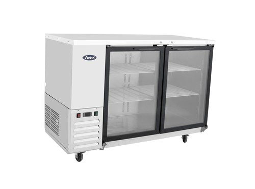 """Atosa MBB59G-GR Stainless Steel Back Bar Cooler with Glass Door 59"""""""